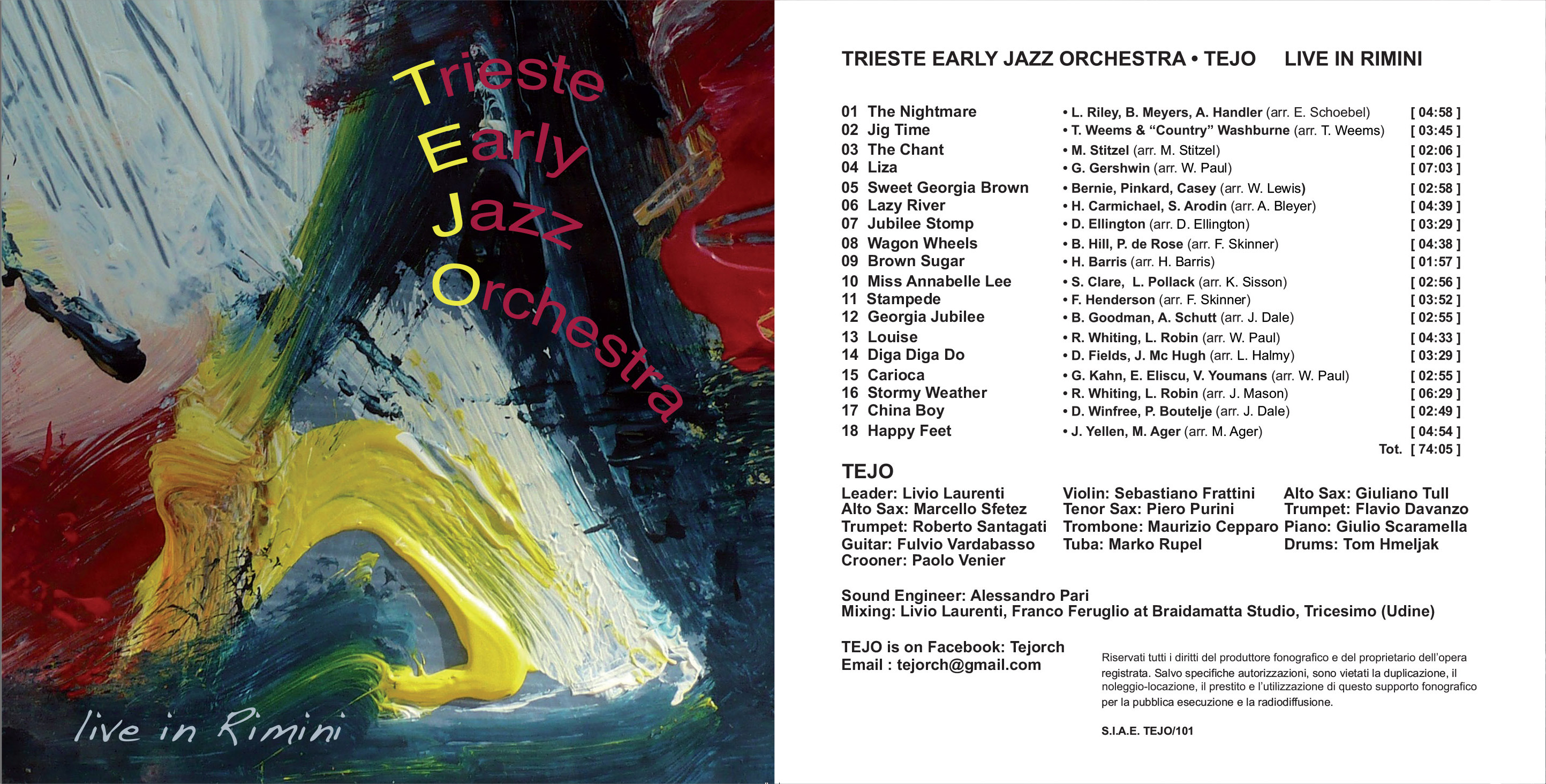Trieste Early Jazz Orchestra Live In Rimini